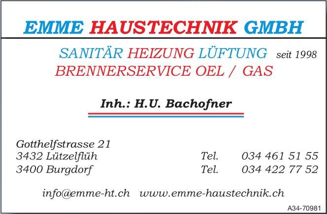EMME HAUSTECHNIK GMBH . SANITÄR, HEIZUNG, LÜFTUNG, BRENNERSERVICE OEL / GAS