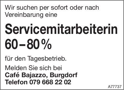Servicemitarbeiterin 60–80% bei Café Bajazzo, Burgdorf, gesucht