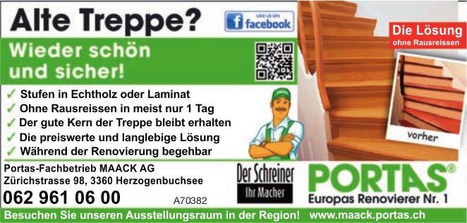 Portas-Fachbetrieb MAACK AG - Alte Treppe? Wieder schön und sicher!