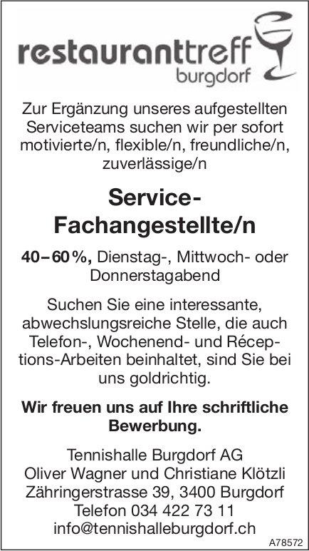 Service Fachangestellte/n 40-60% bei Restaurant Treff Burgdorf gesucht