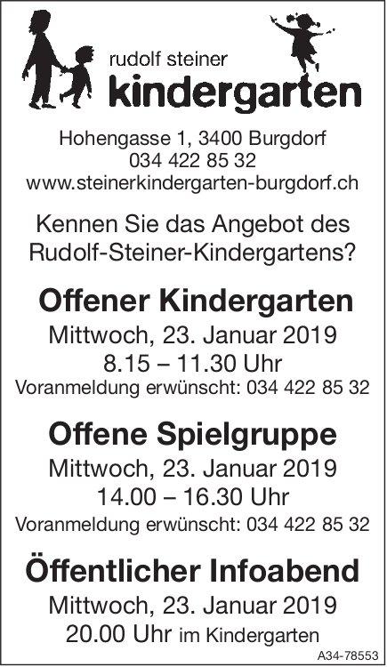 Kennen Sie das Angebot des Rudolf-Steiner-Kindergartens?