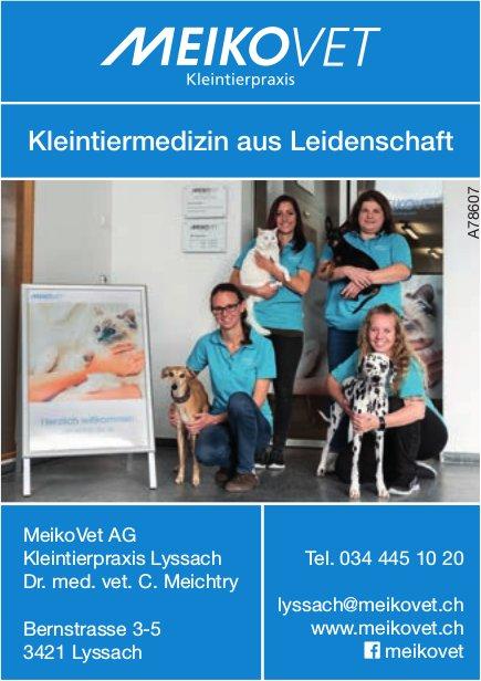 MeikoVet AG, Kleintierpraxis - Kleintiermedizin aus Leidenschaft