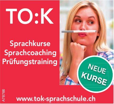 TO:K - Sprachkurse, Sprachcoaching, Prüfungstraining: Neue Kurse