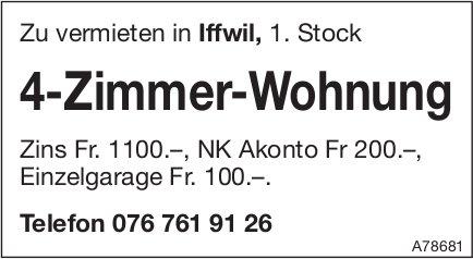 4-Zimmer-Wohnung in Iffwil zu vermieten