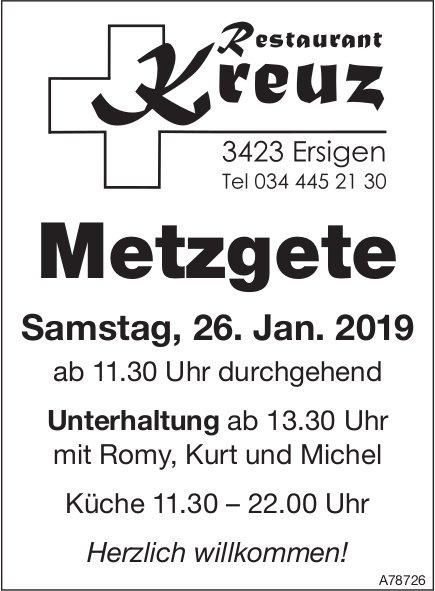 Restaurant Kreuz, Ersigen - Metzgete am 26. Januar