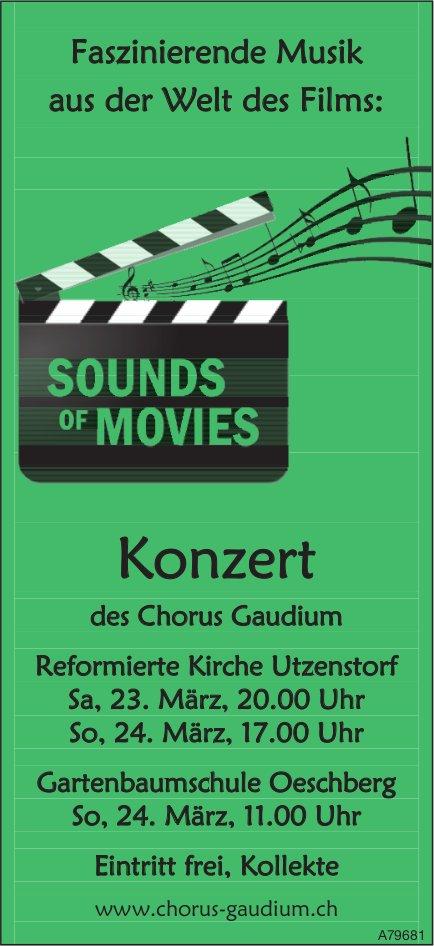 Sounds of Movies - Konzert des Chorus Gaudium, 23./24. März