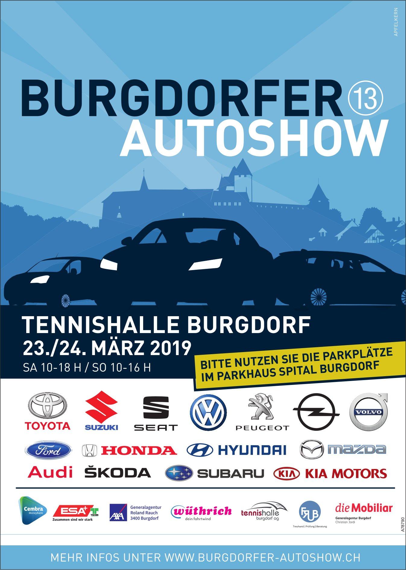 BURGDORFER AUTOSHOW, TENNISHALLE BURGDORF, 23./24. MÄRZ