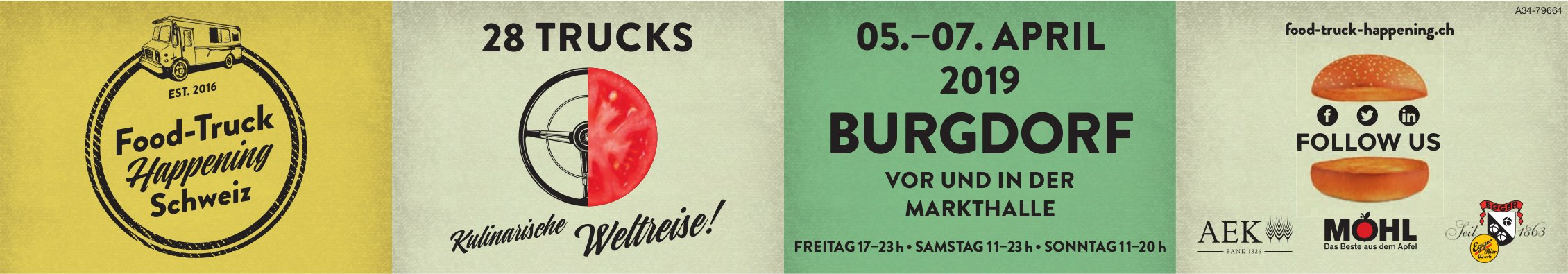 Food-Truck Happening Schweiz, 5. bis 7. April in Burgdorf