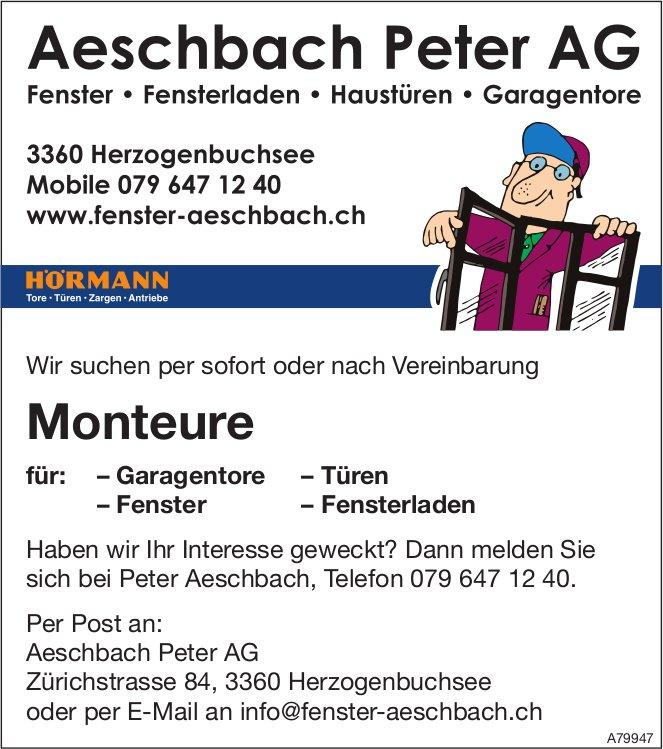 Monteure bei Aeschbach Peter AG gesucht