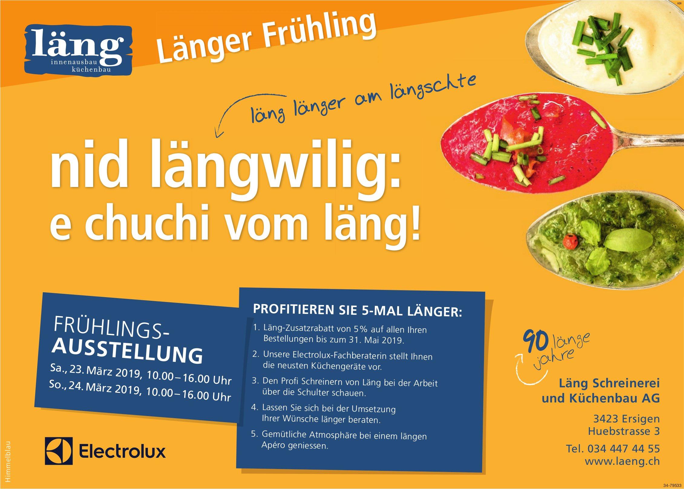 Länger Innenausbau/Küchenbau - Frühlingsausstellung, 23. + 24. März
