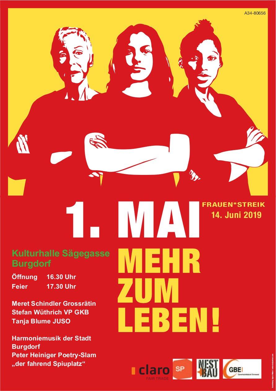 1. Mai mehr zum Leben! Kulturhalle Sägegasse, Burgdorf