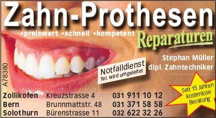 Stephan Müller dipl. Zahntechniker - Zahn-Prothesen Reparaturen
