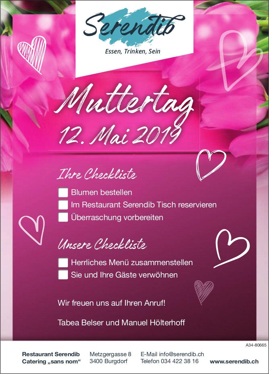 "Restaurant Serendib Catering ""sans nom"" - Muttertag am 12. Mai"