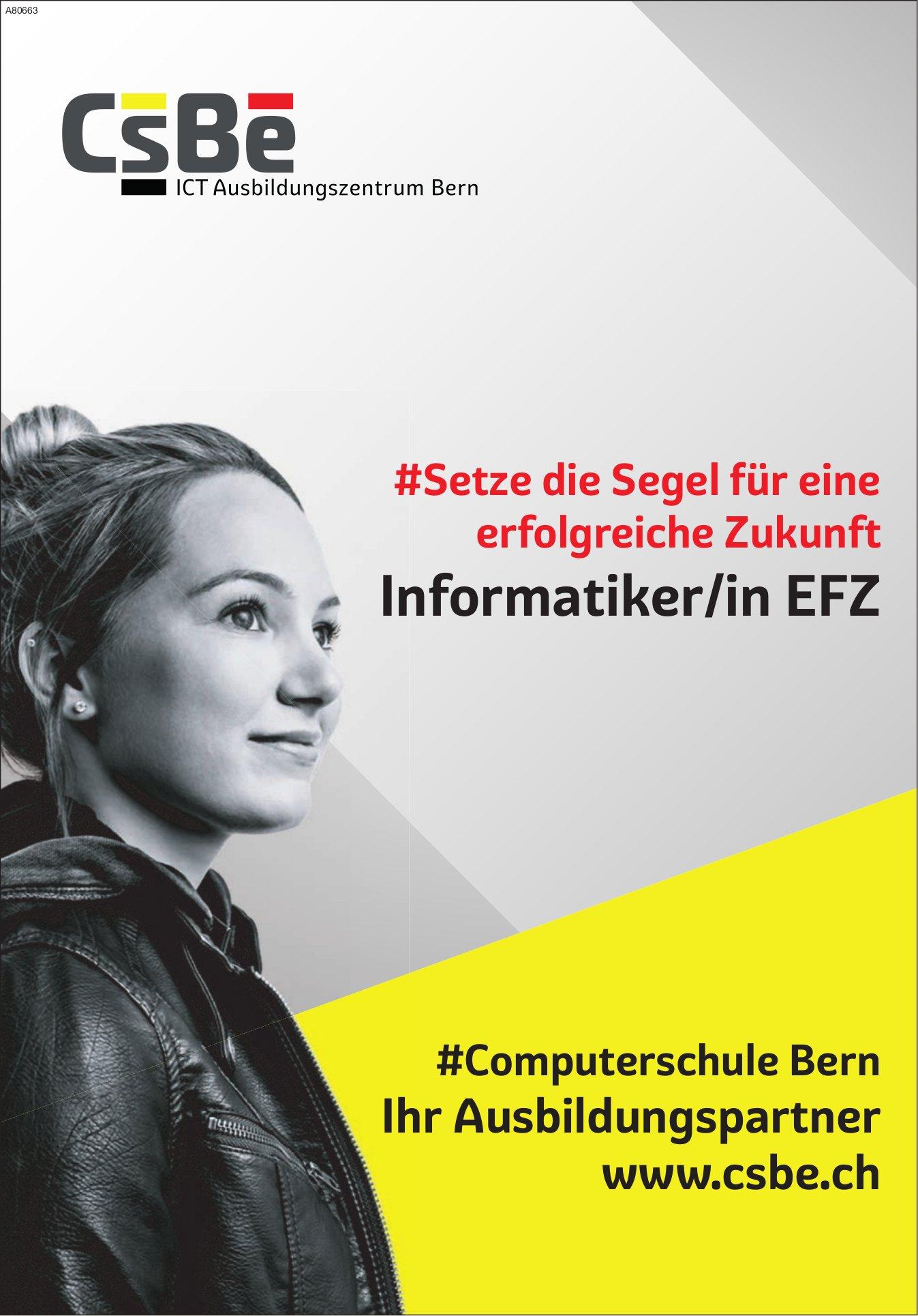 CsBe ICT Ausbildungszentrum Bern - Informatiker/in EFZ