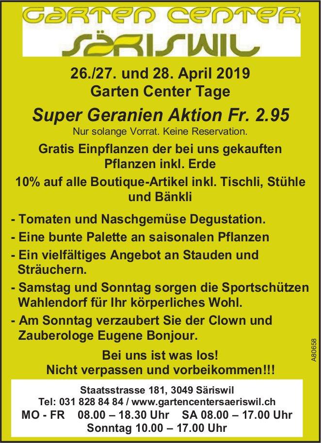 Garten Center Säriswil - 26./27. und 28. April Garten Center Tage