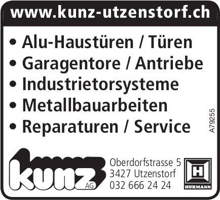 Kunz AG - Alu-Haustüren/Türen, Garagentore/Antriebe