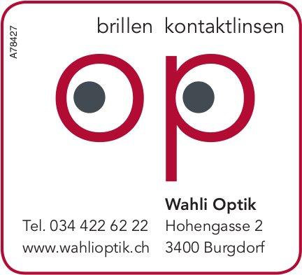 Wahli Optik - Brillen, Kontaktlinsen