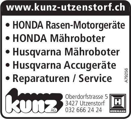 Kunz AG - Honda- + Husqvarna Geräte