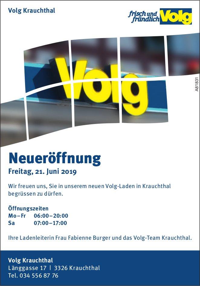 Volg Krauchthal - Neueröffnung, Freitag, 21. Juni