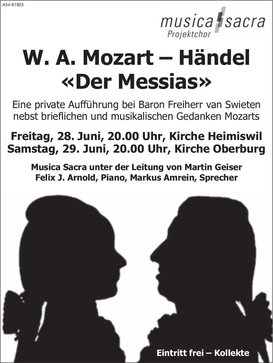 Musica Sacra Projektchor - W. A. Mozart – Händel «Der Messias», 28. + 29. Juni