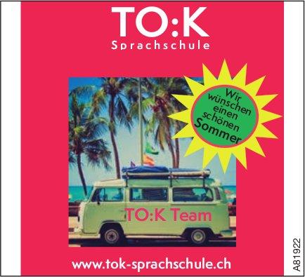 TO:K Sprachschule - Wir wünschen einen schönen Sommer