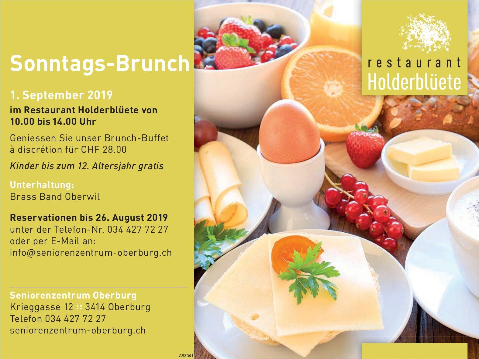 Seniorenzentrum Oberburg - Sonntags-Brunch im Restaurant Holderblüete am 1. September