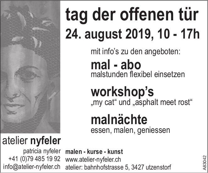 Atelier Nyfeler - Tag der offenen Tür am 24. August