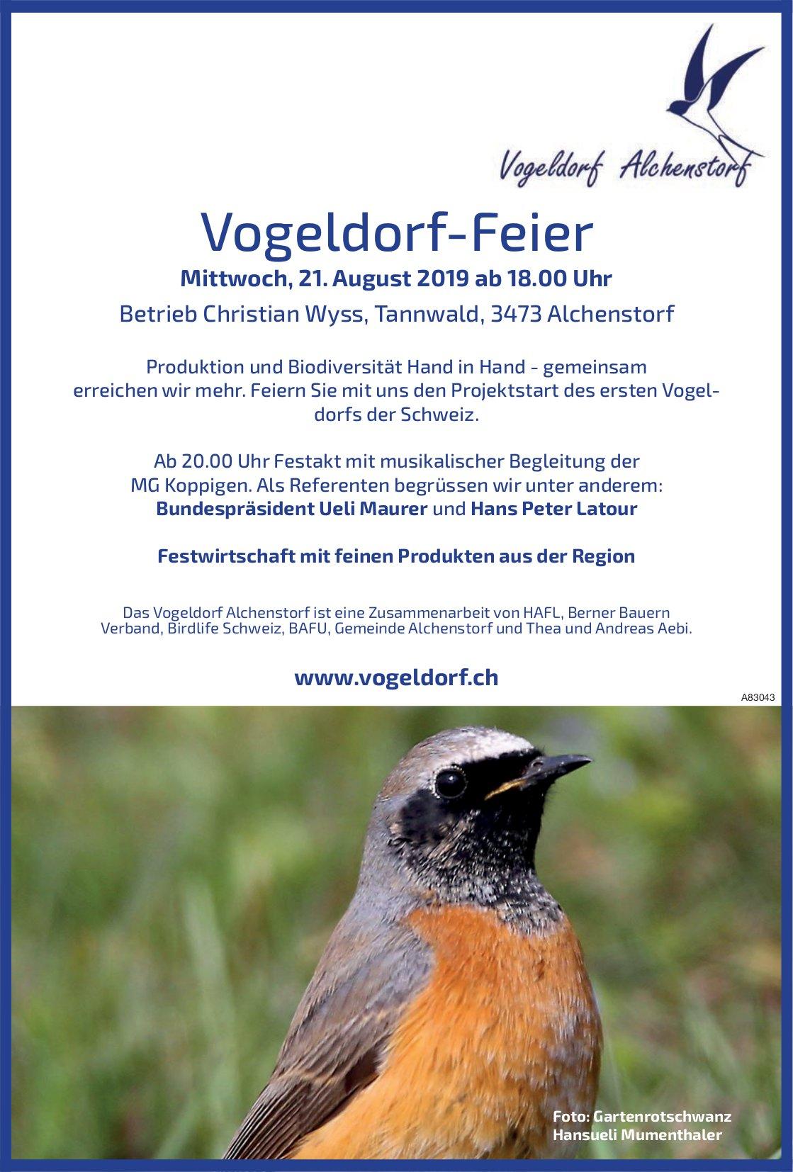 Vogeldorf-Feier am 21. August