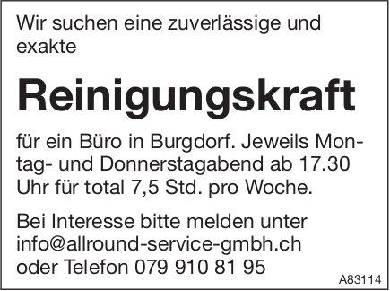 Reinigungskraft für ein Büro in Burgdorf gesucht
