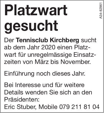 Platzwart bei Tennisclub Kirchberg gesucht