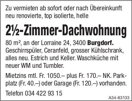 2½-Zimmer-Dachwohnung in Burgdorf