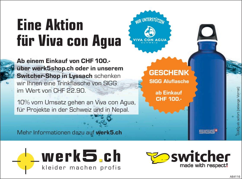 Werk5shop - Eine Aktion für Viva con Agua