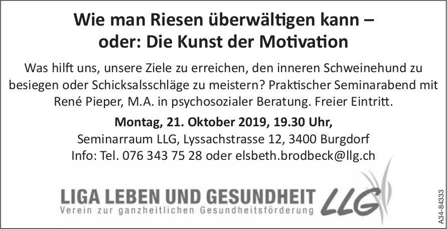 LLG - Wie man Riesen überwältigen kann – oder: Die Kunst der Motivation: Referat am 21. Oktober