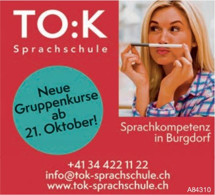 TO:K Sprachschule - Neue Gruppenkurse ab 21. Oktober!