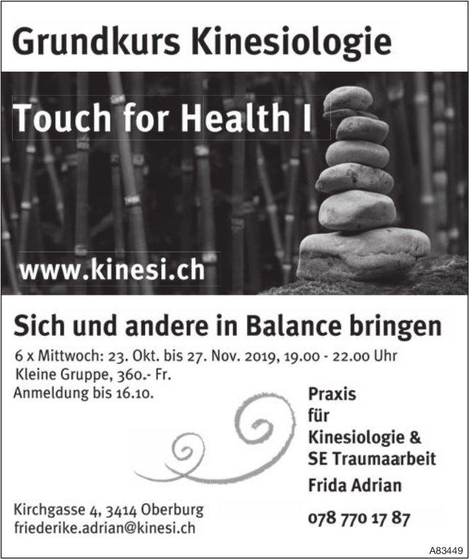 Praxis für Kinesiologie & SE Traumaarbeit - Sich und andere in Balance bringen ab 23. Oktober