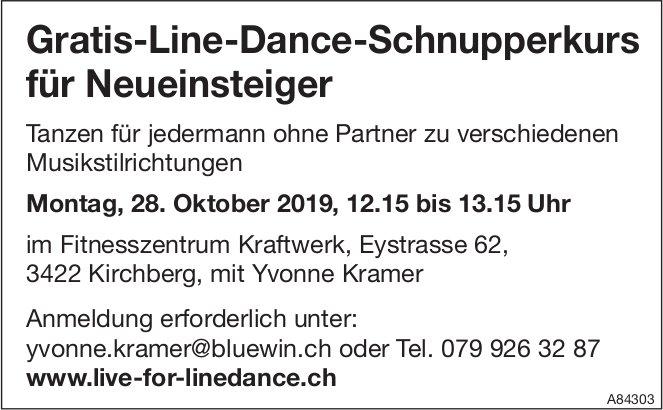 Gratis-Line-Dance-Schnupperkurs für Neueinsteiger am 28. Oktober
