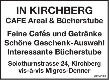 IN KIRCHBERG CAFE Areal & Bücherstube: Feine Cafés und Getränke Schöne Geschenk-Auswahl usw.