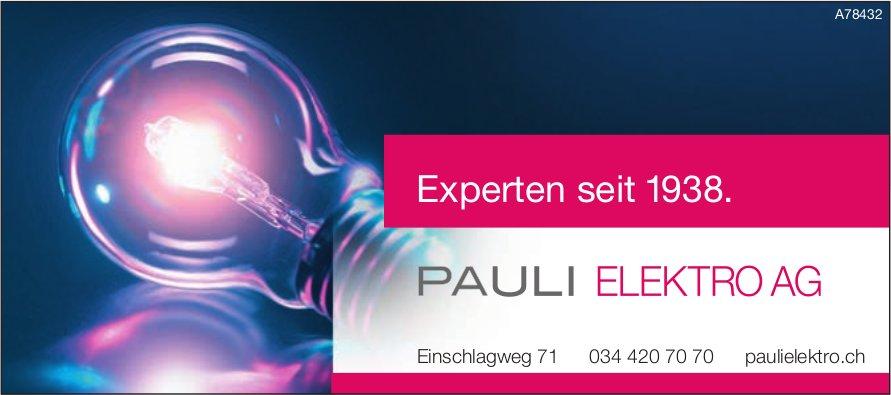 PAULI ELEKTRO AG - Experten seit 1938.