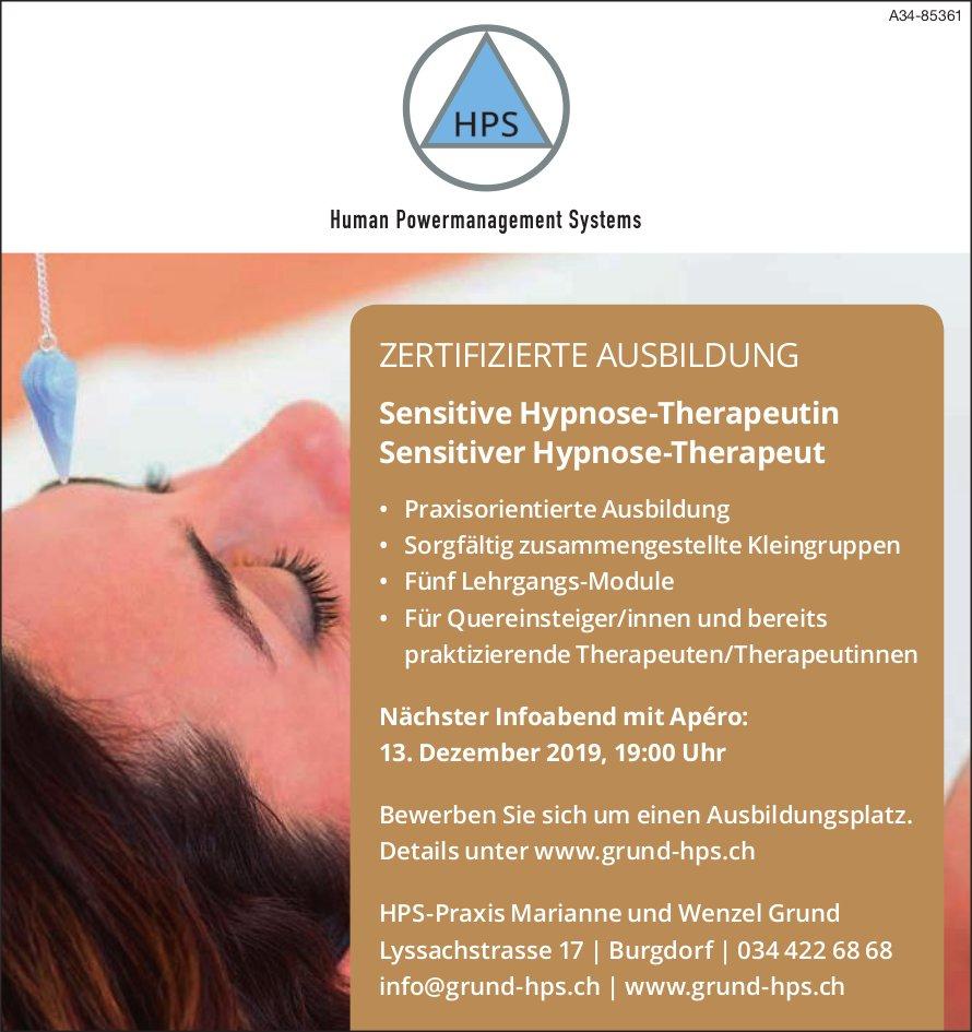 Human Powermanagement Systems - Nächster Infoabend mit Apéro am 13. Dezember