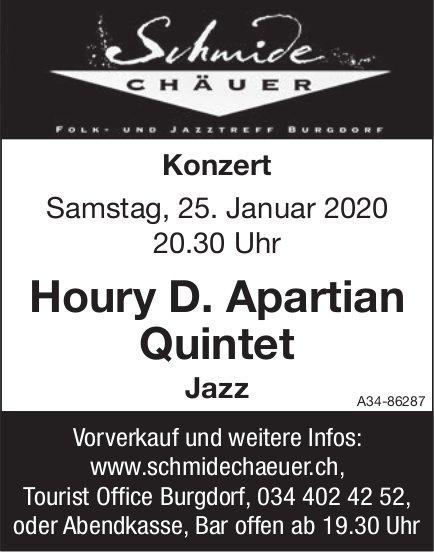 Schmide Chäuer - Konzert Houry D. Apartian Quintet am 25. Januar