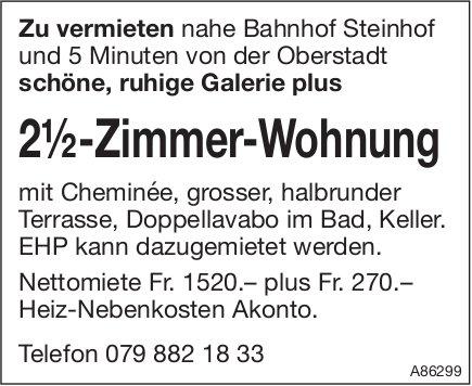 2.5 Zimmer-Wohnung nahe Bahnhof Steinhof zu vermieten