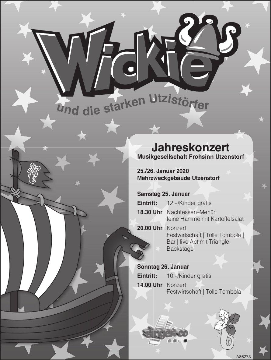 Wickie und die starken Utzistörfer - Jahreskonzert, 25./26. Januar