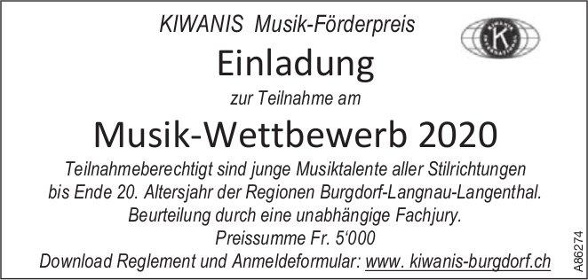 KIWANIS Musik-Förderpreis - Musik-Wettbewerb2020