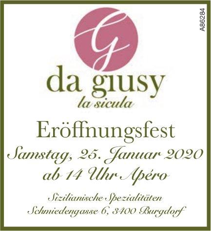 da giusy la sicula - Eröffnungsfest am 25. Januar