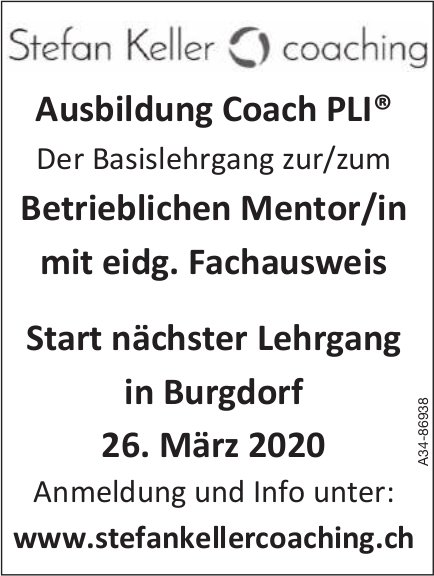 Ausbildung Coach PLI, 26. März, Stefan Keller coaching, Burgdorf