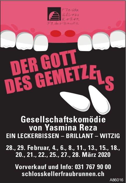 """""""Der Gott des Gemetzels"""", Gesellschaftskomödie von Yasmina Reza, in Februar und März"""