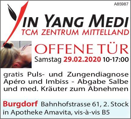 Ying Yang Medi, TCM Zentrum Mittelland - Offene Tür am 29. Februar, Burgdorf
