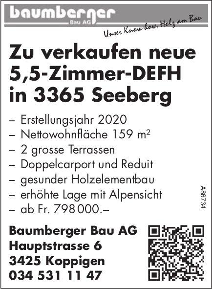 5.5- Zimmer-DEFH, Seeberg, zu verkaufen
