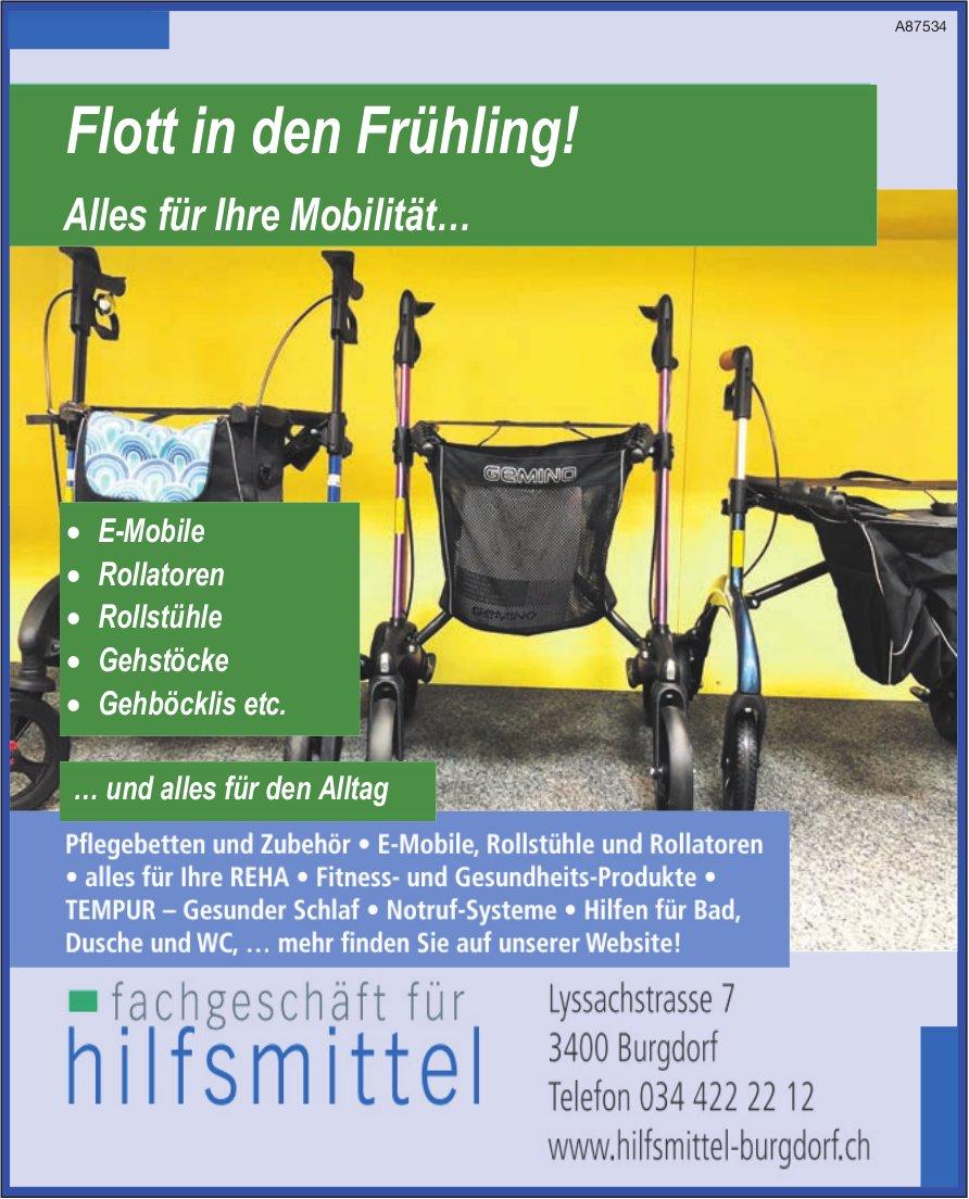 Fachgeschäft für Hilfsmittel - Flott in den Frühling! Alles für Ihre Mobilität