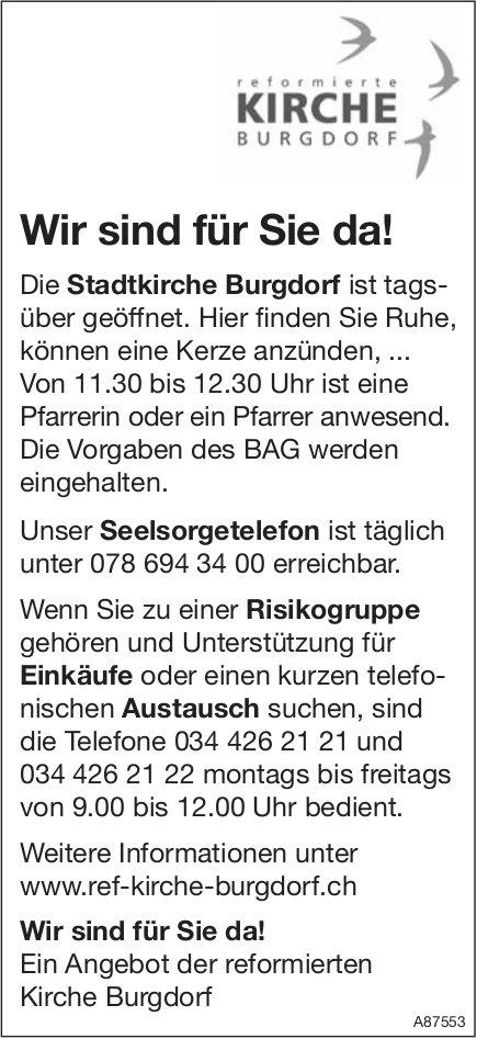 Ref. Kirche Burgdorf - Wir sind für Sie da!